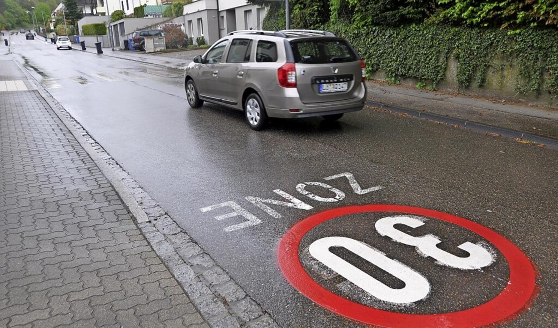 Die Tempo-30-Zone in Stetten soll auf den Steinenweg verlängert werden.    Foto: Daniel Gramespacher