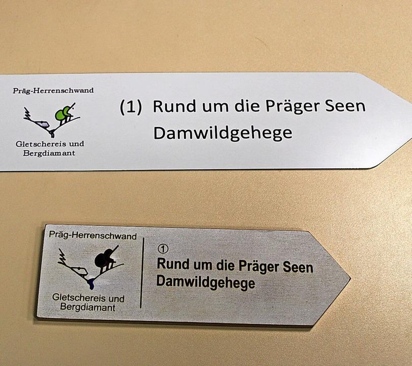 Die beiden Varianten der neuen Wanders...e Alternative aus recyceltem Material.  | Foto: Manuel Hunn