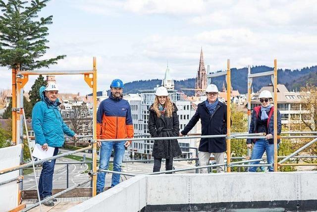 Markanter Bau in Freiburg soll in einem Jahr fertig sein