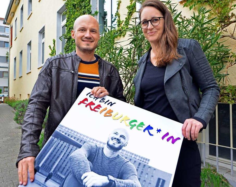 Andreas Starck und Carina Utz  | Foto: Michael Bamberger