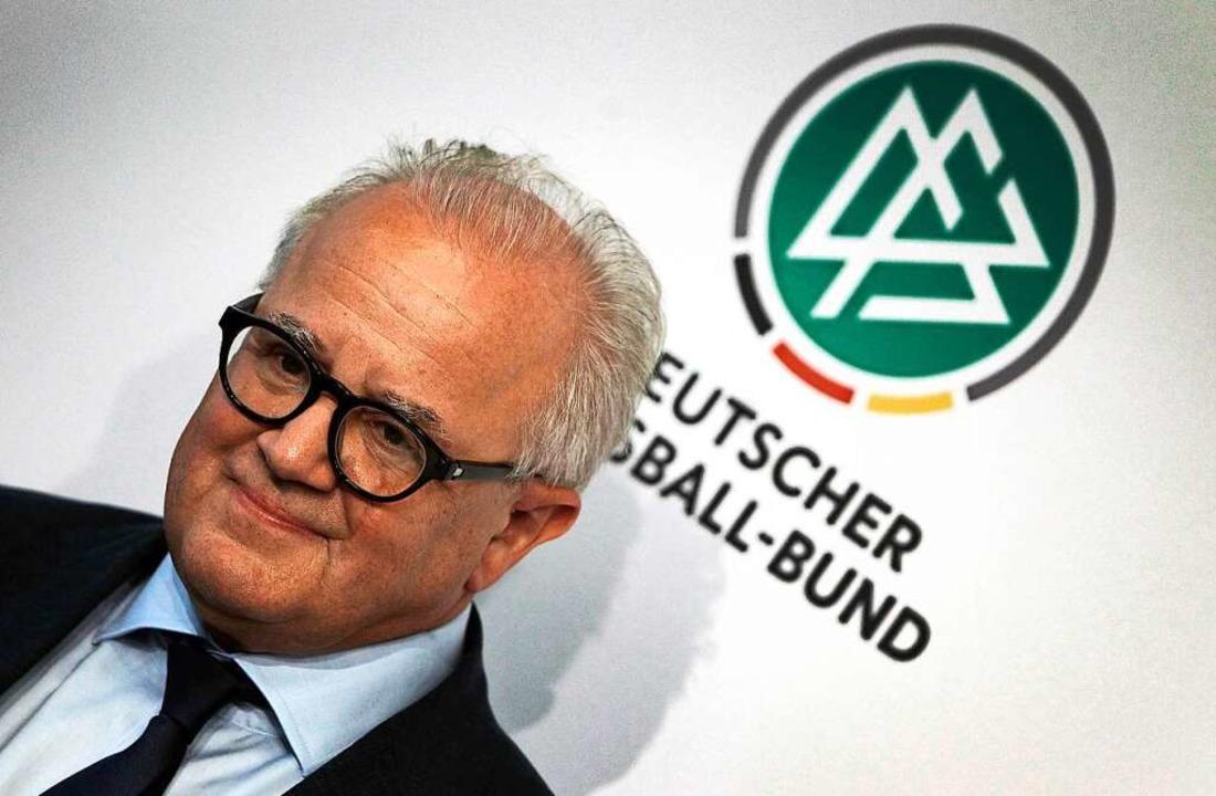 Glaubt daran, dass er den Weg des  DFB...Präsident begleiten kann: Fritz Keller  | Foto: DANIEL ROLAND (AFP)