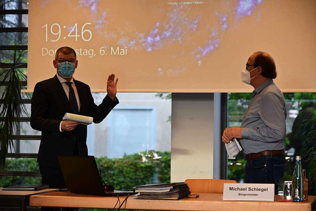In seine vierte Amtszeit startet Bürge...emeinderatsmitglied Siegfried Gebhard.  | Foto: Benedikt Sommer