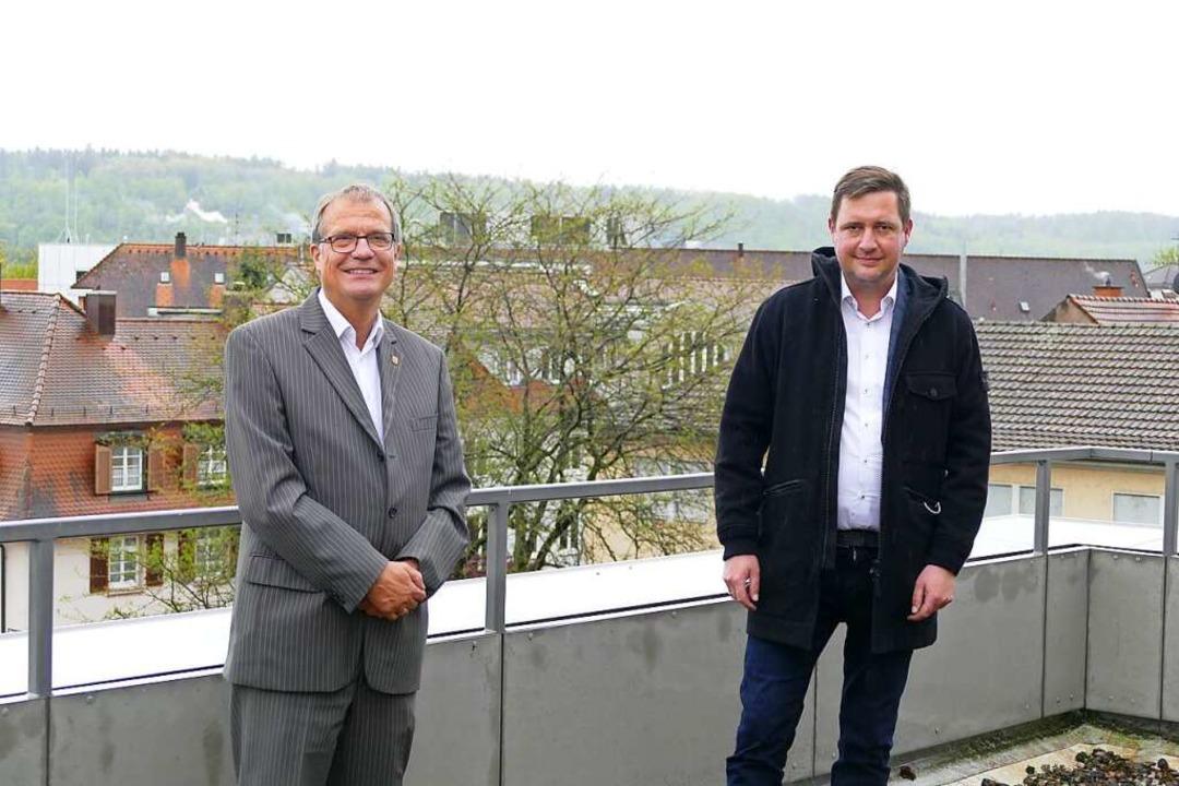 Rheinfeldens neuer Wirtschaftsförderer... Meier (rechts) mit OB Klaus Eberhardt    Foto: Dora Schöls