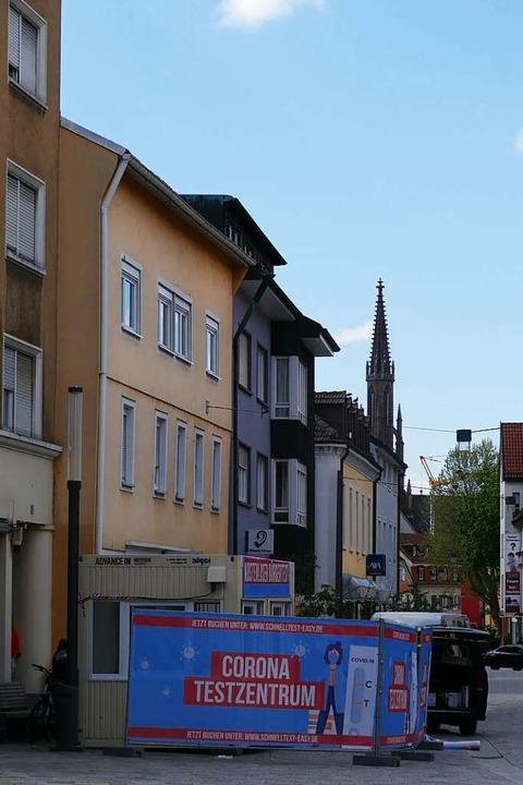 Die Testmöglichkeiten in Offenburg wer... weiteren Station auf dem Lindenplatz.  | Foto: Helmut Seller