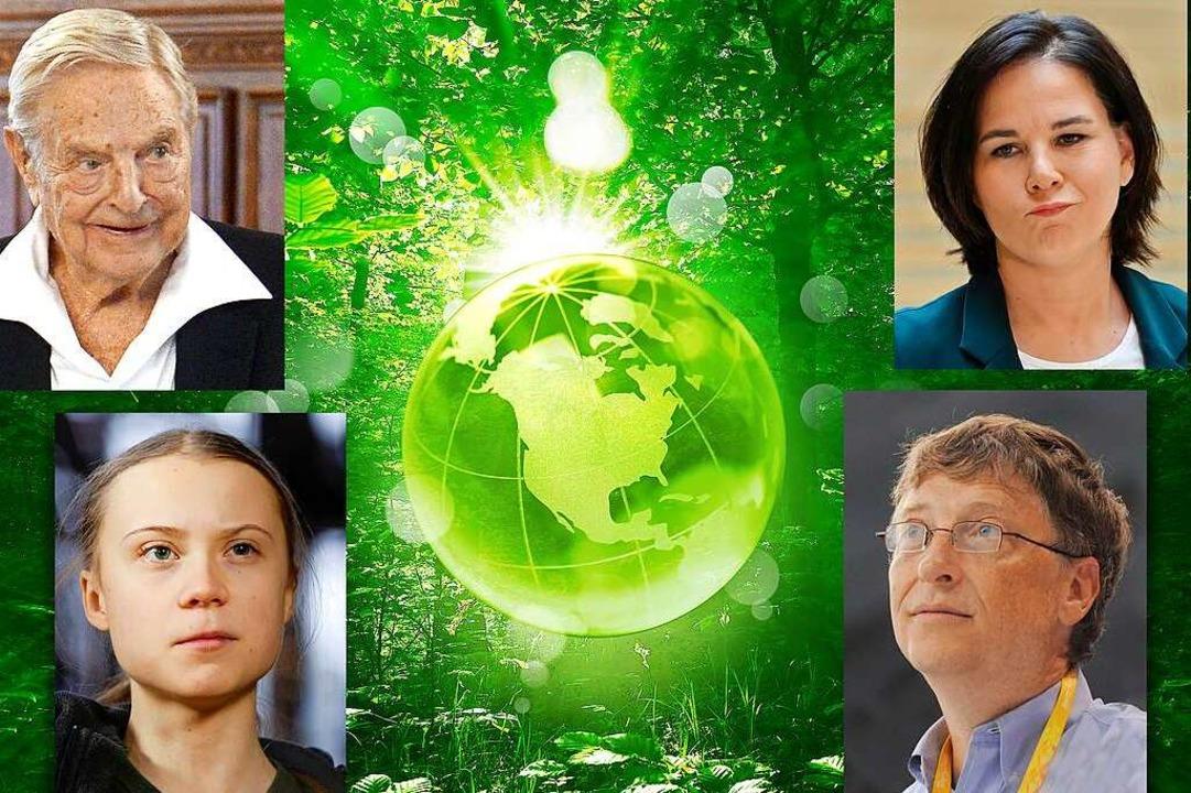 Feindbilder für die Anhänger von Versc...aerbock, Bill Gates und Greta Thunberg    Foto: JLO_FOTO (stock.adobe.com)