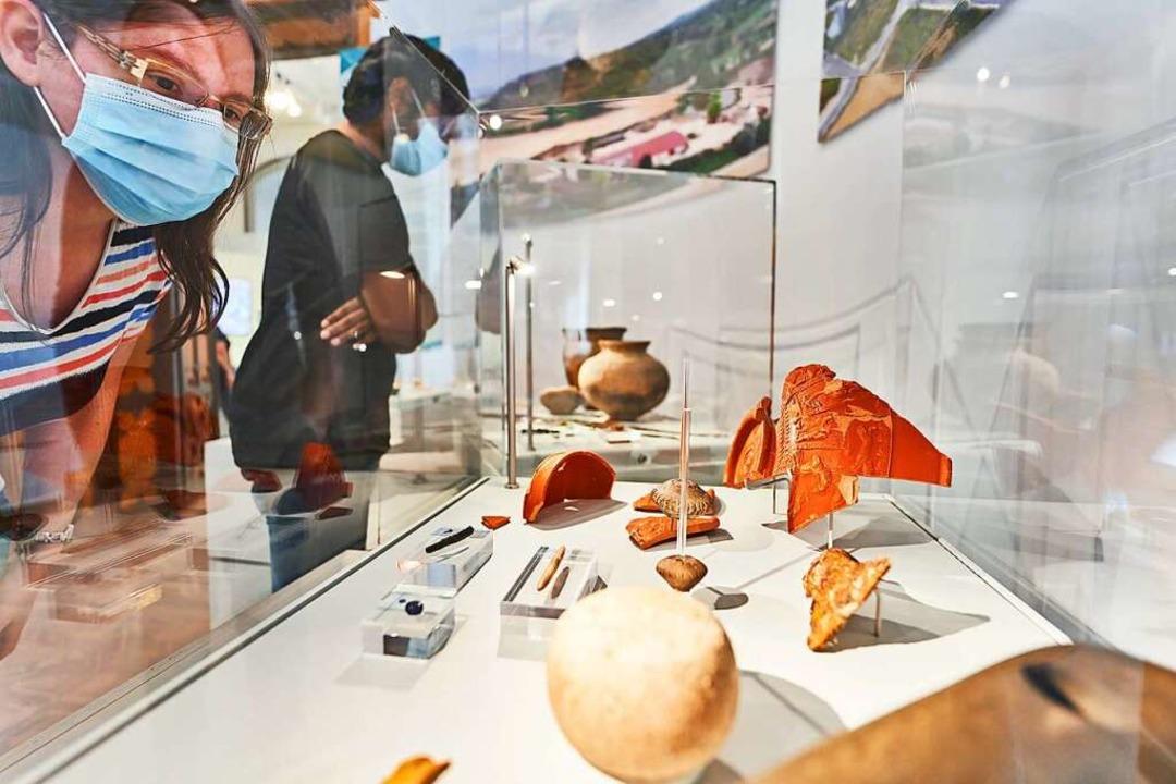 In Tiengen gefundene Exponate sind jet...chen Museum Colombischlössle zu sehen.  | Foto: Archäologisches Museum Colombischlössle, Foto: A. Killian