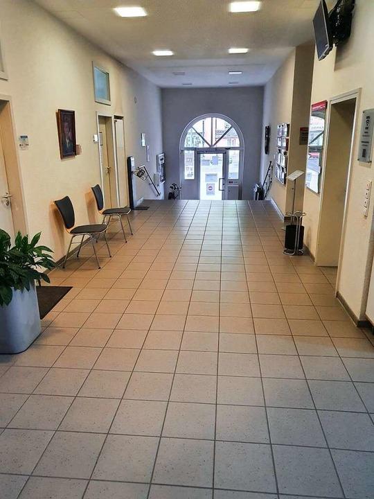 Aus dem Gang soll ein modernes Foyer werden.  | Foto: Bürgermeisteramt Binzen