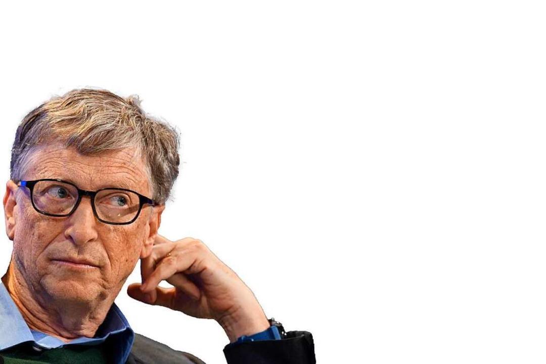 Schaut nervös auf die Impfhochburg Freiburg: Chip-Mogul Bill Gates.  | Foto: Gian Ehrenzeller