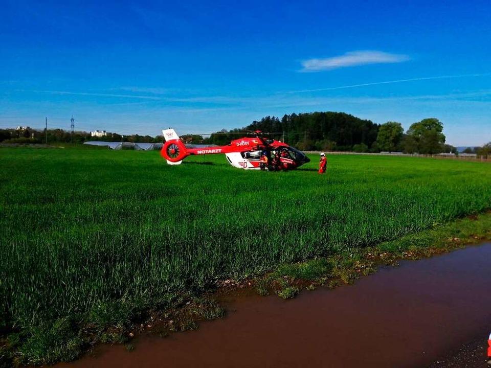 Hubschrauberunterstützung  | Foto: Christian Ringwald