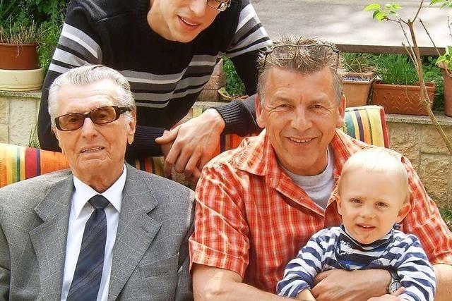 Hermann Unger ist mit 99 Jahren der älteste Schopfheimer
