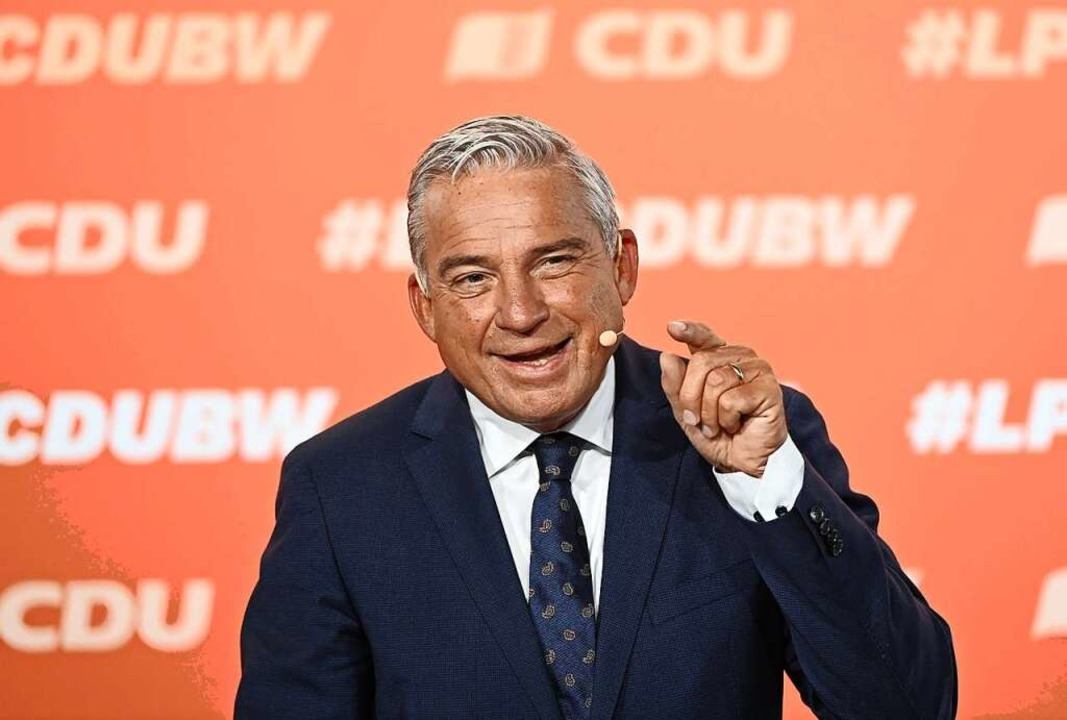CDU-Landeschef Thomas Strobl  | Foto: Bernd Weissbrod (dpa)