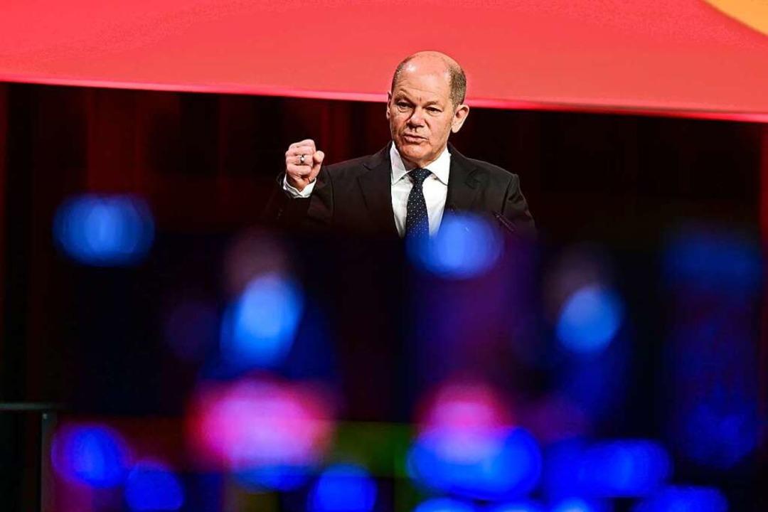 SPD-Kanzlerkandidat Olaf Scholz    Foto: Soeren Stache (dpa)