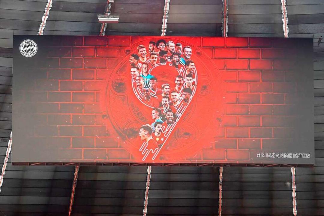 Bayern geht schon als Meister ins Abendspiel gegen Mönchengladbach.    Foto: CHRISTOF STACHE (AFP)