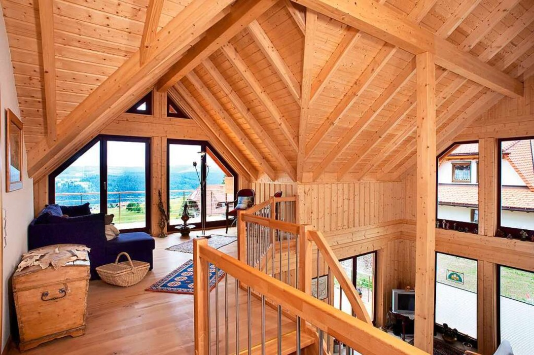 Modernes Holzhaus    Foto: DMBV