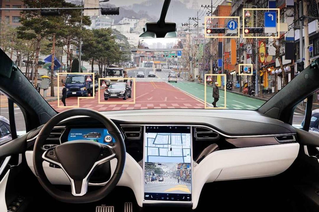 Eine alltägliche Verkehrssituation ste... Rechenleistung eines autonomen Autos.    Foto: scharfsinn86  (stock.adobe.com)
