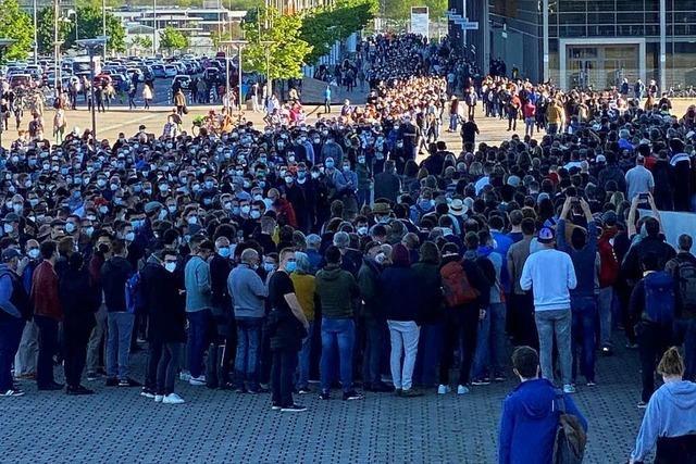 Um 8.10 Uhr waren alle Termine des Freiburger Astrazeneca-Aktionstags weg