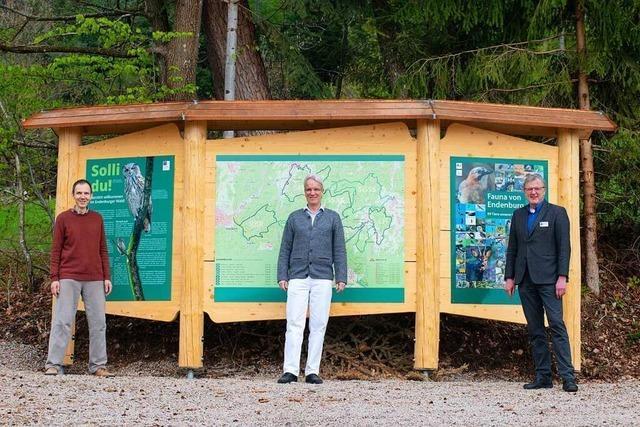 Neue Wald-Infotafeln in Endenburg sollen beim Gesundwerden helfen