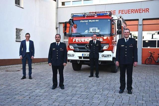 Feuerwehr Wyhl wählt Martin Seiter zum stellvertretenden Kommandanten