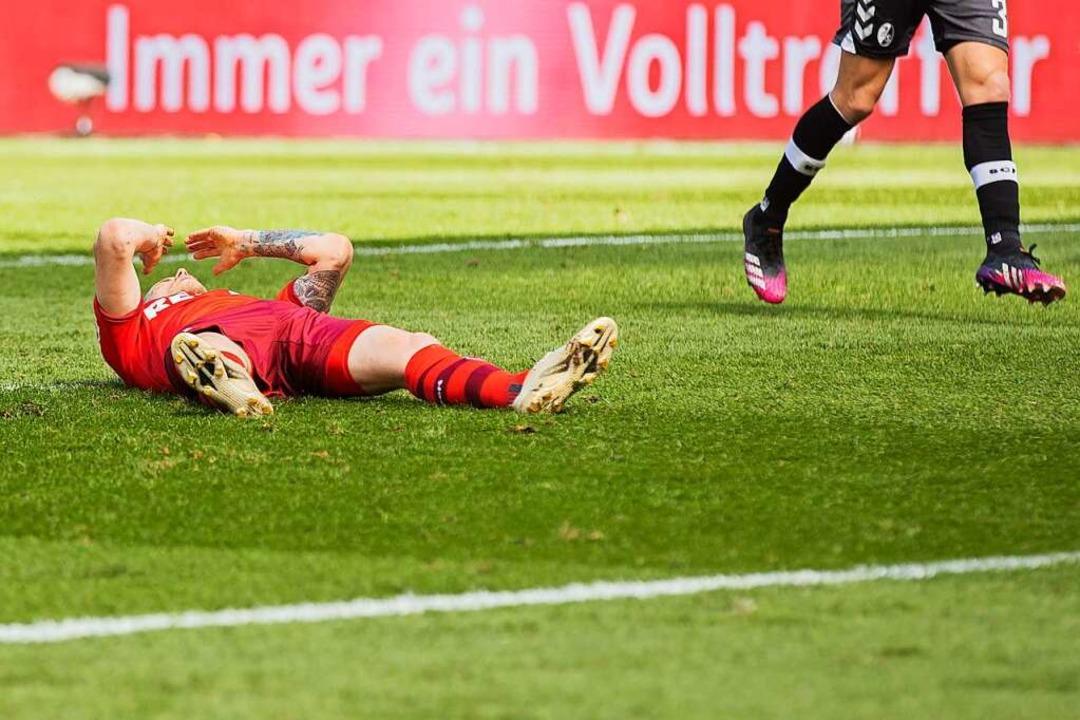Die Kölner sind akut abstiegsgefährdet.  | Foto: Rolf Vennenbernd (dpa)