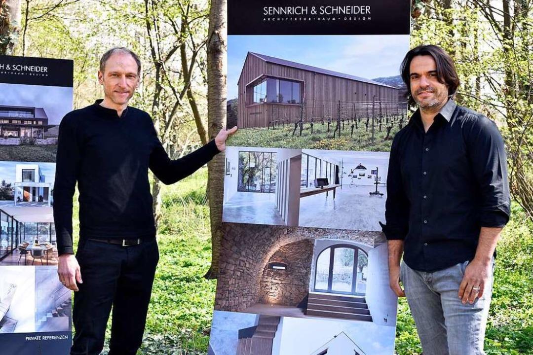 Mike Schneider (links) und Tobias Senn...emacht und  freuen sich auf den Umzug.    Foto: Thomas Kunz