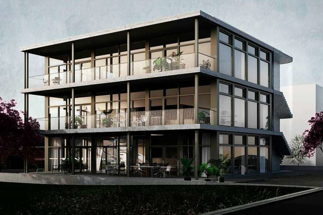 So soll der Neubau des Ingenieurbüros ...nchener Architekten Valerio Calavetta.    Foto: Valerio Calavetta