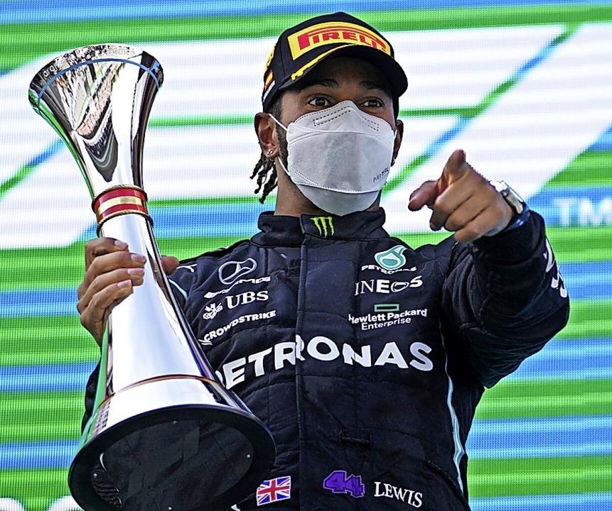 Schon wieder er: Lewis Hamilton  | Foto: Emilio Morenatti (dpa)