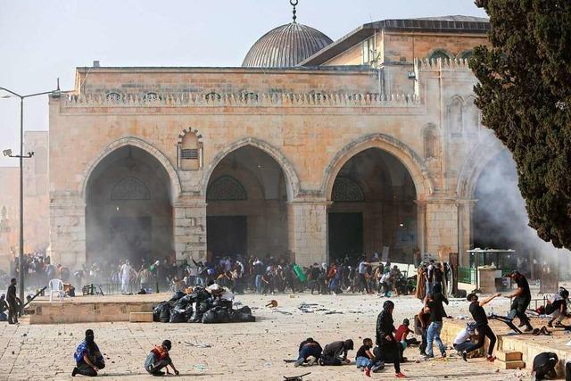 Zusammenstöße auf dem Tempelberg in Jerusalem