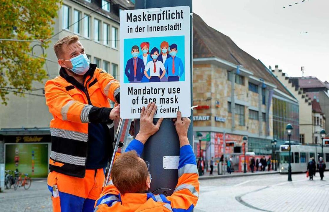 Verstöße gegen die Maskenpflicht sorgt...Verstößen gegen die Corona-Verordnung.  | Foto: Michael Bamberger