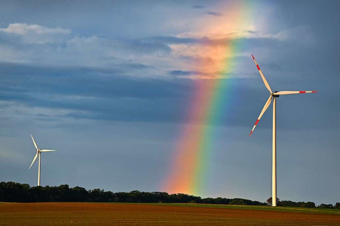 Will Deutschland anderen Ländern CO2-Z...f Wind- und Sonnenenergie umzusteigen.    Foto: Patrick Pleul (dpa)