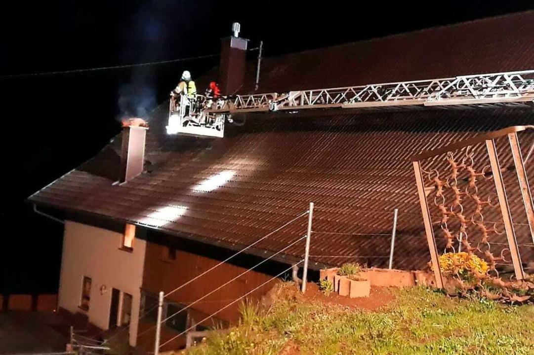 Am späten Freitagabend beschäftigte be...igen Monaten die Feuerwehr Biederbach.  | Foto: Feuerwehr Biederbach