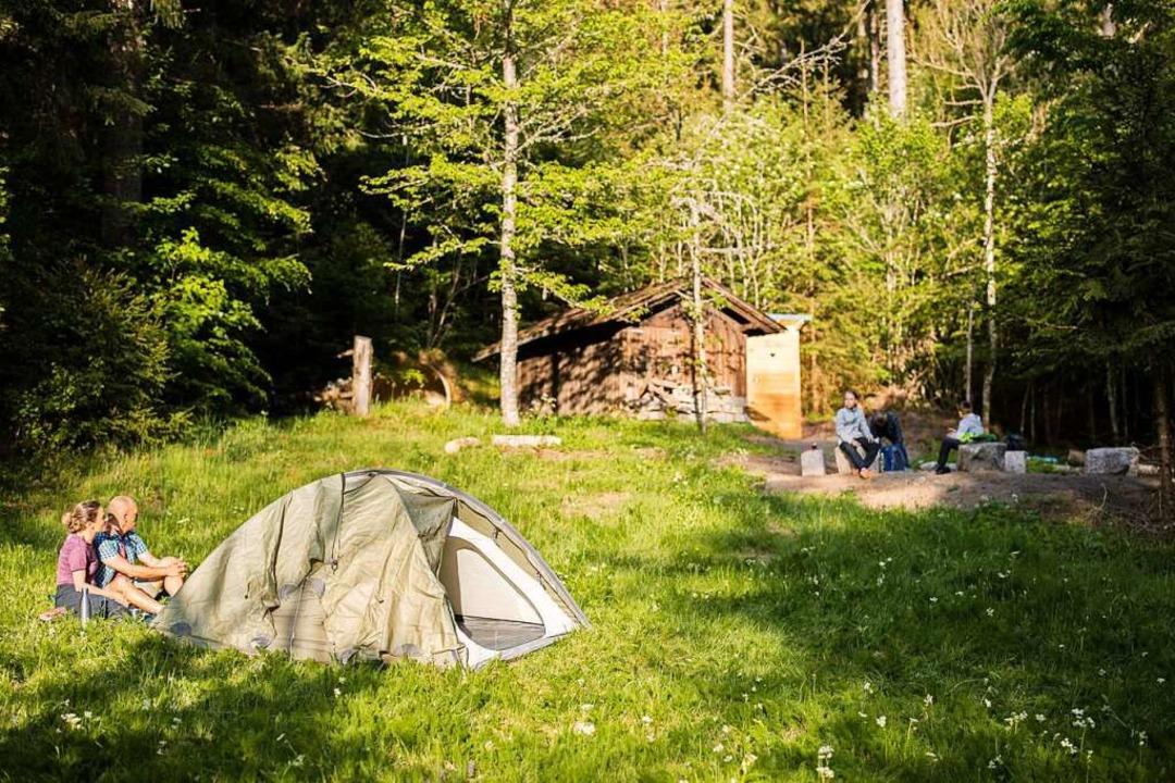 Beim Trekking im Schwarzwald dürfen na...gal in der Natur ihr Zelt aufschlagen.  | Foto: Sebastian Schröder-Esch