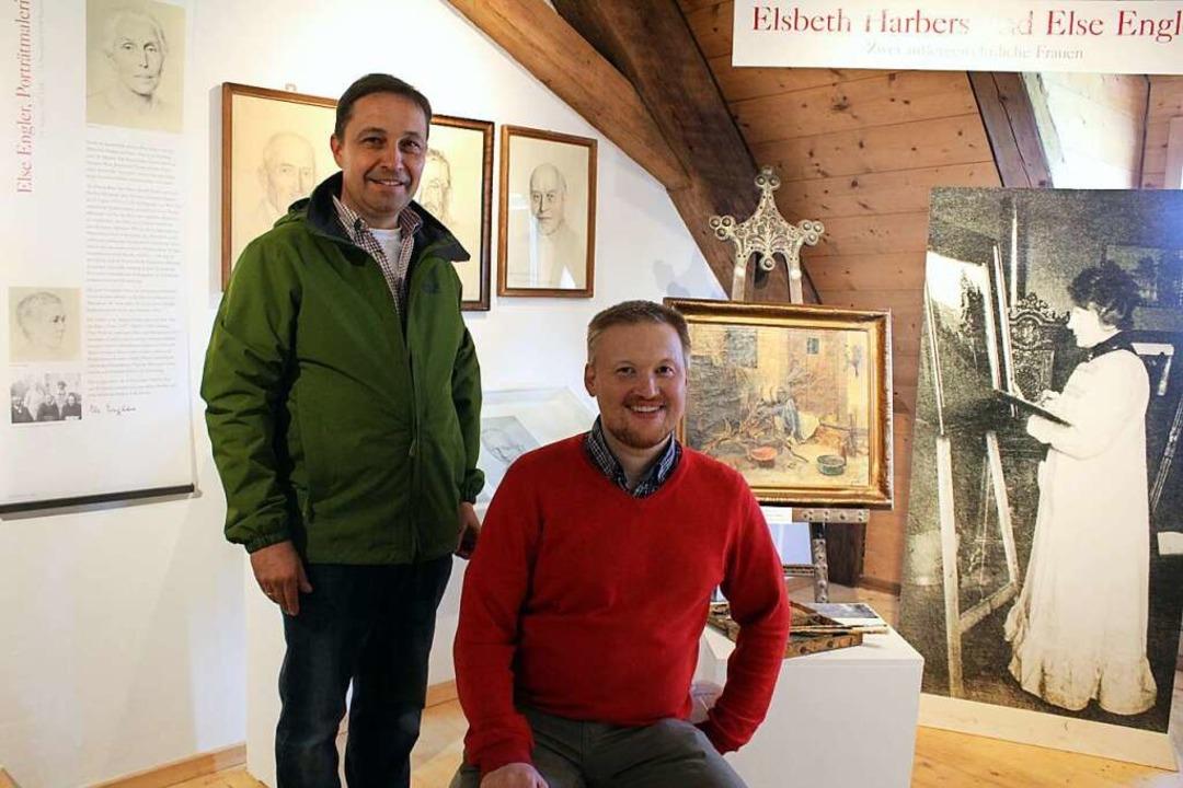 Die Initiatoren Klaus Hog (links) und ...nderausstellungsecke im Klostermuseum.  | Foto: Erich Krieger