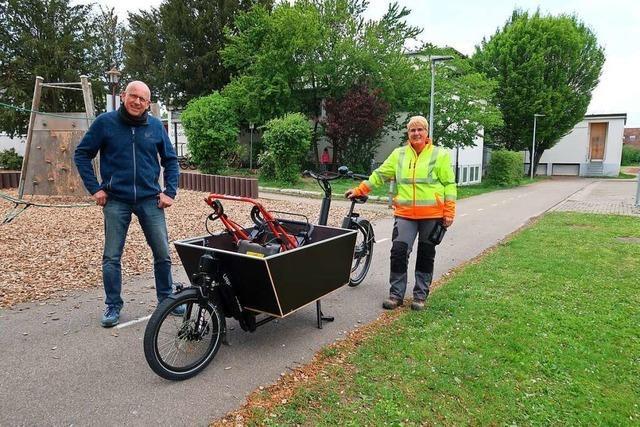 Gemeindemitarbeiter in Breisach können Lasten-E-Bikes nutzen
