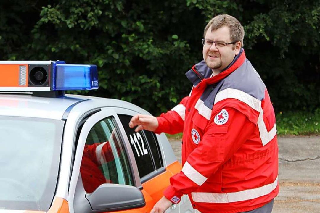 Markus Kiefer ist Notfallsanitäter    Foto: Madeleine Kiefer
