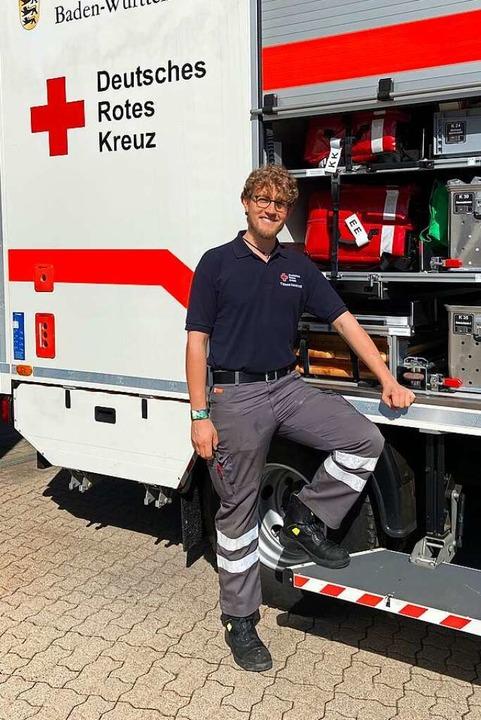 Lukas Erdmann ist Gruppenführer Modul Sanität im DRK Ortsverein Titisee-Neustadt    Foto: Lukas Erdmann