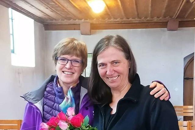 Kinder verabschieden Karin Beyersdorff in Egringen