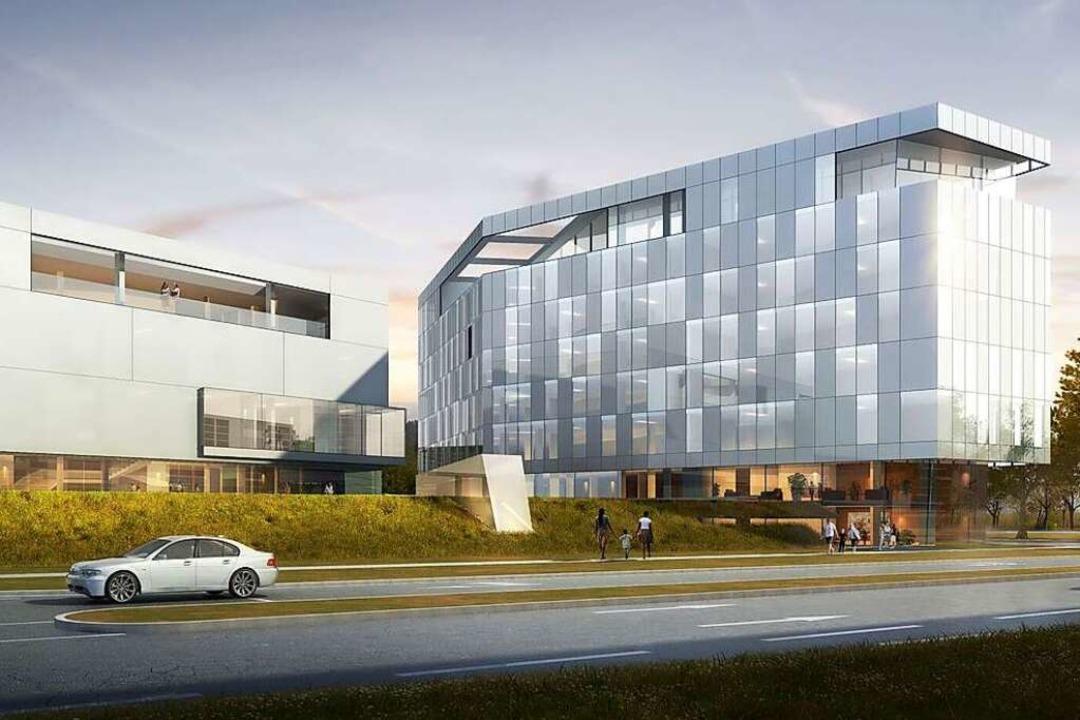 Die imposanten Pläne der Emely GmbH fü...die Stadt Lahr in Auftrag gegeben hat.  | Foto: Archimedialab Ltd.