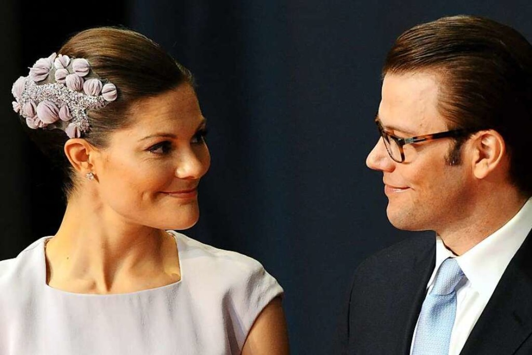 Haben sich im Blick: Schwedens Kronpri...weden, bei einem Empfang im Jahr 2010.  | Foto: Carsten Rehder