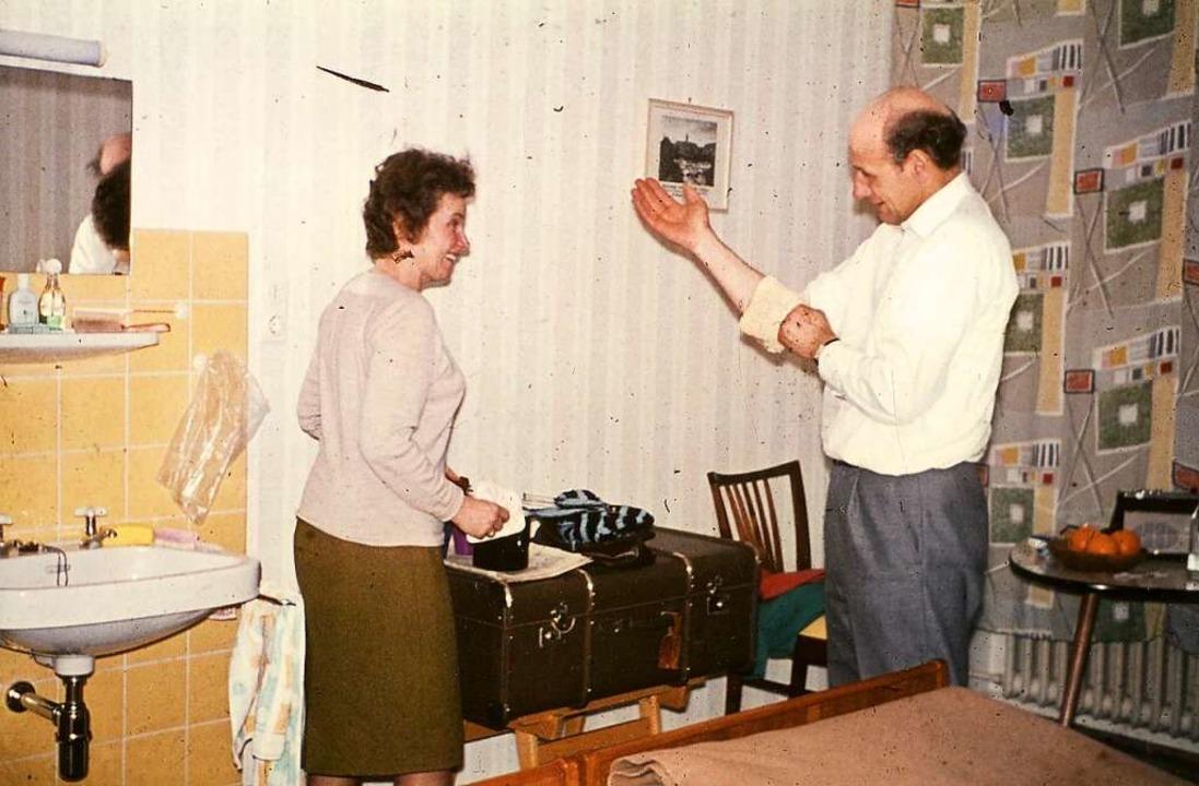 Die Zimmer waren früher einfach, aber praktisch eingerichtet.    Foto: BDH-Klinik Elzach