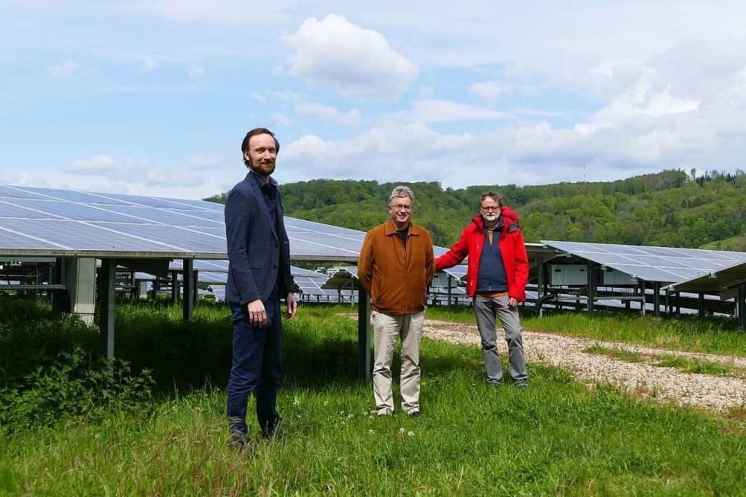 Gemeinschaftsprojekt Solarpark Herten:...ter Schalajda von Bürgerwindrad Blauen  | Foto: Dora Schöls