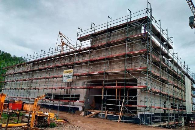 Neubau für die Lörracher Dreiländersammlung ist im Umriss erkennbar