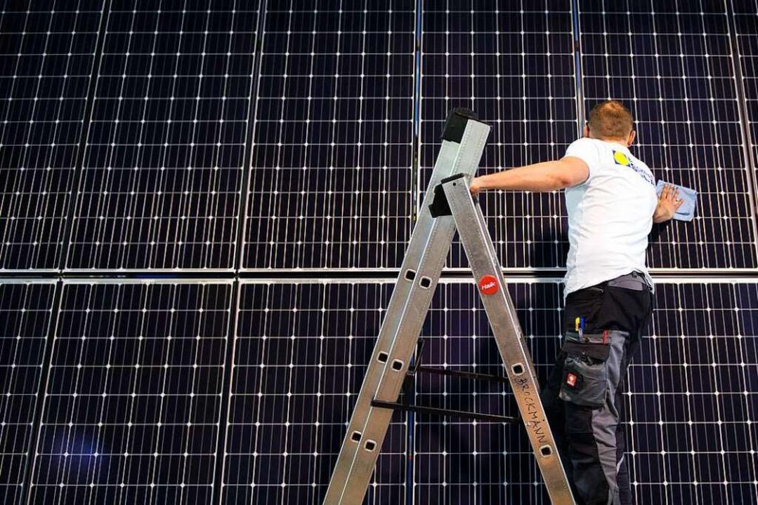 Wollen sich Gewerbebetriebe künftig in...hern produzierte Sonnenenergie nutzen.  | Foto: Arno Burgi