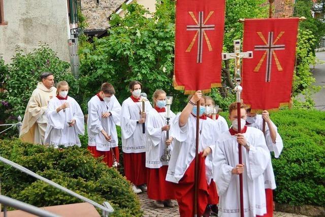 Katholiken feiern in St. Fridolin in Lörrach Christi Himmelfahrt