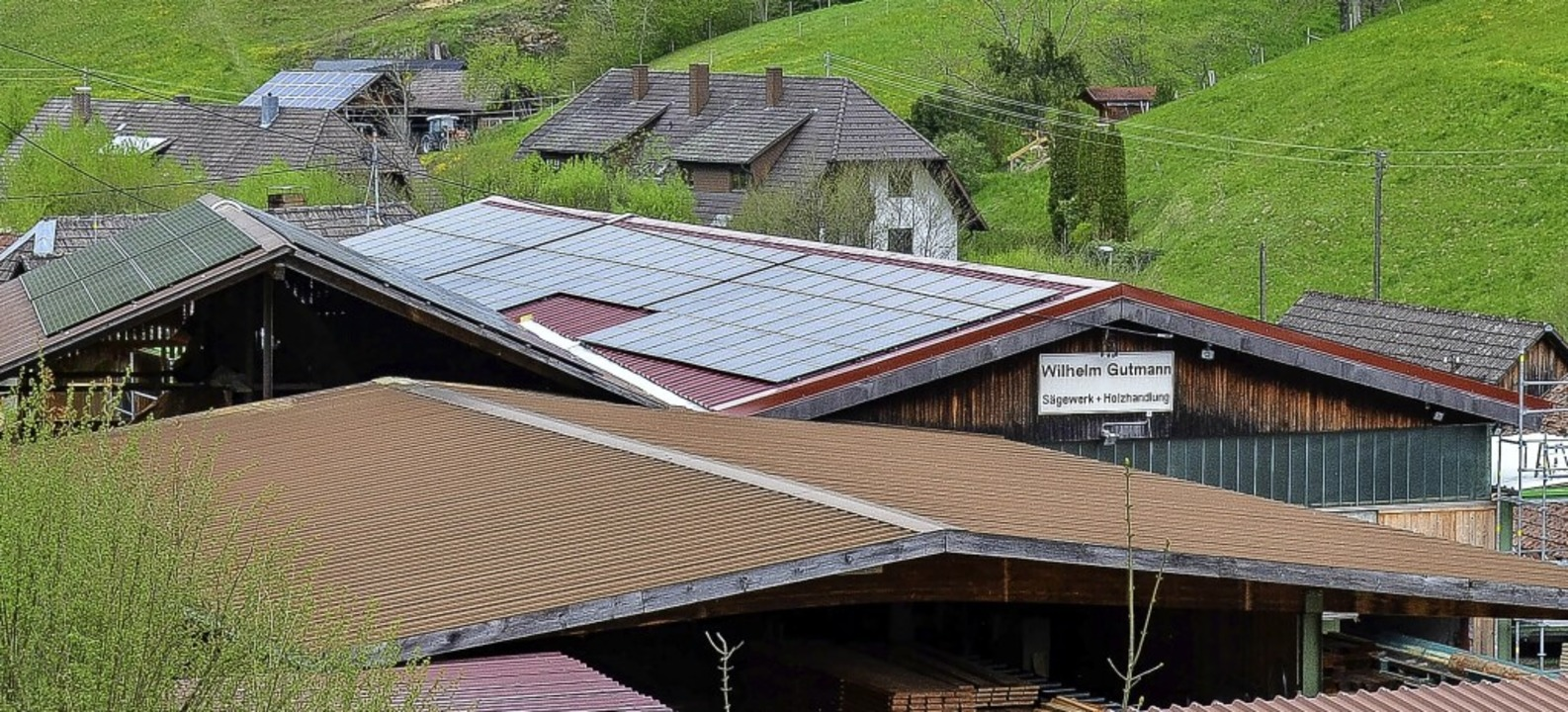 Die neue Photovoltaikanlage auf den Dä...s zählt zu den größten in Münstertal.     Foto: Gabriele Hennicke