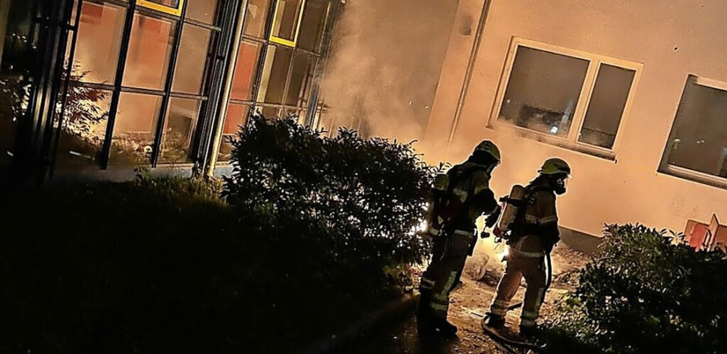 Die Feuerwehr musste mit Atemschutz vorgehen.  | Foto: Freiwillige Feuerwehr Heitersheim