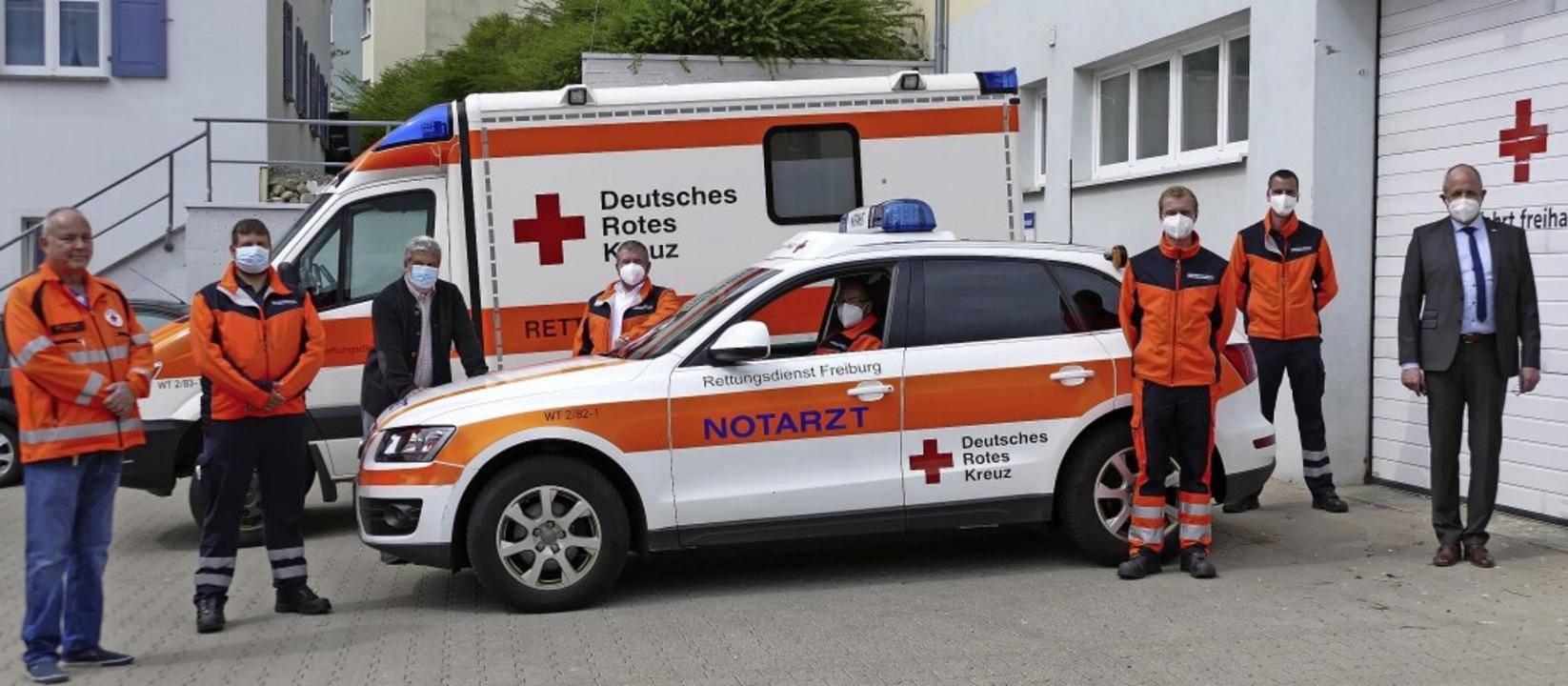 Freude in der Rettungswache Bonndorf: ...en DRK-Rettungsdienst sichergestellt.   | Foto: Juliane Kühnemund