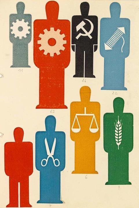 Musterblatt aus der Piktogramm-Enzyklo...munikation ohne sprachliche Barrieren.  | Foto: Peter Hinschläger