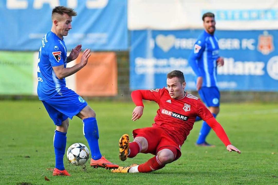 Malte Moos von den Stuttgarter Kickers...Verein auf dem Klageweg recht bekommt.  | Foto: Achim Keller