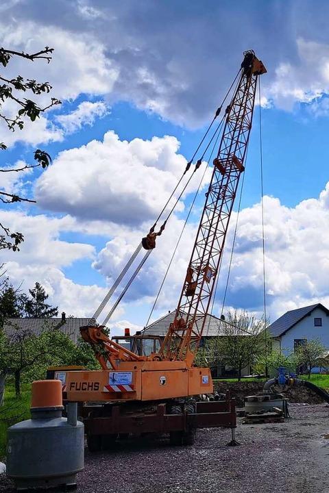 Baustelle in Wittenweier    Foto: Regierungspräsidium