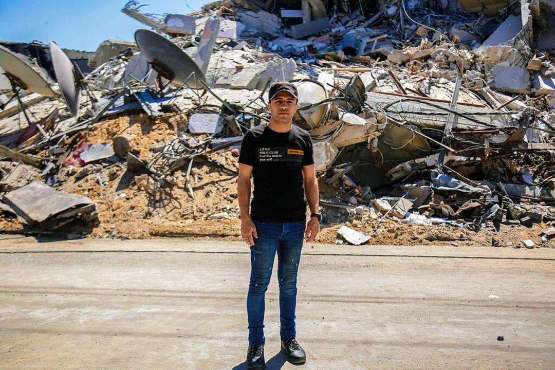 """Der 29-jährige Palästinenser Baschir a...in Gaza sei """"entsetzlich"""".    Foto: Saud Abu Ramadan (dpa)"""